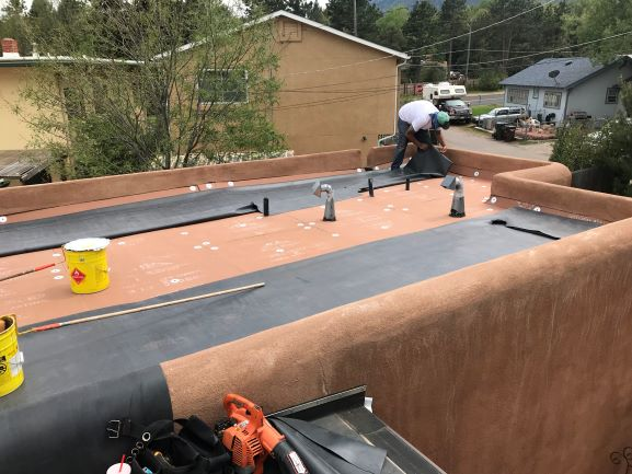 flat roof sustainable sturdy long lasting roof material